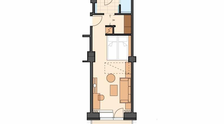 Rodinná izba Junior Panorama s priestranným balkónom - Hotel PARTIZÁN